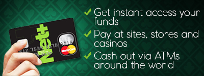 Fast withdrawals at online casinos with Net+ MasterCard and ease of cash out via ATMs around the world